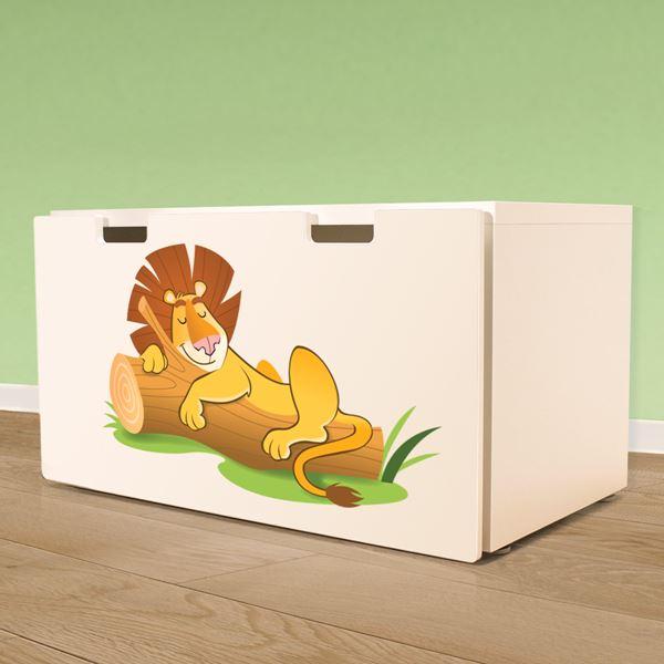 Adesivi murali leone addormentato leostickers for Planner cameretta